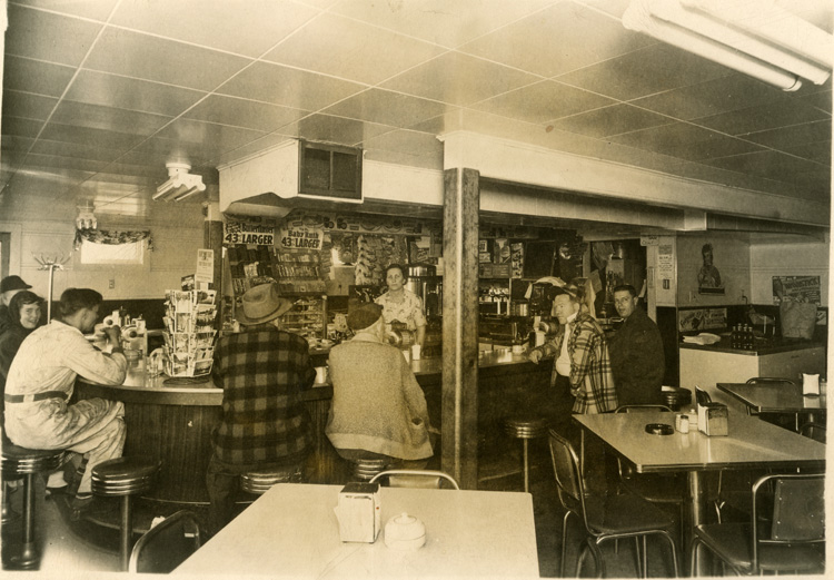Description The Inside Of Bjork S Dog House Restaurant In Brodhead Wisconsin Waitress Is Christina Gilbert Men On Right Side Are Plaidphirt George
